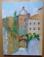 Small Painting To oil On Board Preparatory Sketch Painter Spanish MD3
