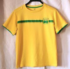 H&m CALCIO BRASIL numero 10 a Maniche Corte Bambini Giovani Sport T-Shirt Taglia 158/164