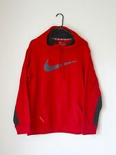NWOT NIKE Mens Sports hoodie THERMA-FIT Red/Gray L
