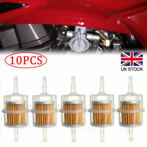 10Pcs Petrol Inline Fuel Filter Large Car Part Fit 6mm 8mm Universal Pipes New