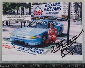 Don Swanson Racing Mazda Prototype Autograph Signed Photograph Vintage tob