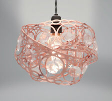 Country Club Metal Light Fitting, Rose Gold Gem Wrap Contemporary Stylish Shade