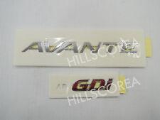 2017 HYUNDAI ELANTRA AVANTE OEM Rear Trunk AVANTE & GDI Logo Emblem 2pcs Set