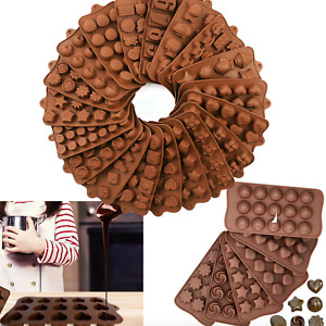 3D Silicone Chocolate Mould Cake Soap Wax Melt Mold Candy Jelly Ice Cube Tray UK