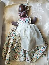 Vintage Black Americana Mammy Doll Kitchen Toaster Cover 1950's Plastic Face