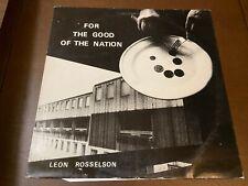 Leon Rosselson~For the good of the nation~Uk Import~Vg+Folk Songwriter Pop Rock