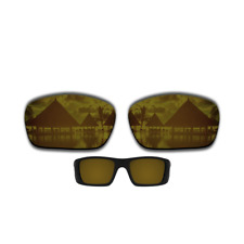 US Polarized Copper Gold Replacement Lens for-Oakley Fuel Cell OO9096 Sunglasses