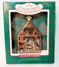 Vintage Hallmark MINIATURE CRECHE  multi plated brass ornament 1987 3rd