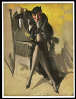 Antique 1930s Rolf Armstrong Thomas D. Murphy Pin-Up Print My Time Is Your Time