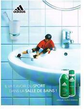 PUBLICITE  ADVERTISING  2001 ADIDAS   DEODORANT  GEL DOUCHE               040213
