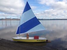 66 SF Sail, Folding Spars & Mast -- soup up a Sunflower or use for DIY project
