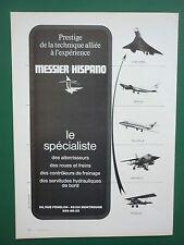 9/1974 PUB MESSIER HISPANO CONCORDE POTEZ MIRAGE F1 FALCON 20 AIRBUS FRENCH AD