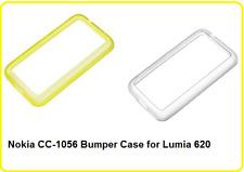 Genuine Nokia CC-1056  Bumper Case for Lumia 620 - Yellow or Clear Retail Boxed