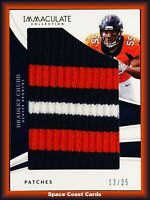 BRADLEY CHUBB /25 IMMACULATE PATCHES 3 COLOR 2018 Panini Immaculate Football RC