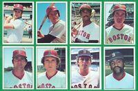1976 SSPC BOSTON RED SOX TEAM SET  NM/MT  FISK  LYNN  RICE  YAZ    PESKY  TIANT