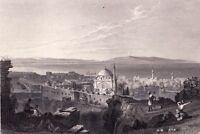 Gravure XIXe Acre Israel  1840 Saint Jean D'Acre Acco Ptolémaïs Akko Akkā עַכּעַ