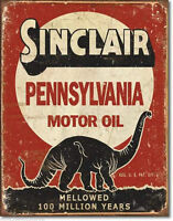 Sinclair Motor Oil Company Metal Sign Tin New Vintage Style Gas Garage