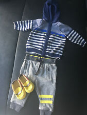 3 Piece Baby Boy Outfit including shoes.