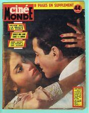 ▬►CINÉMONDE N°1474 - 1962 Jane FONDA_Michèle MERCIER_LOLLOBRIGIDA_Clark GABLE