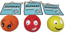 6 x Armitage Good Boy Face Design Squeaky Soft Dog Toys 6cm Ball