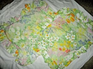 VINTAGE WAMSUTTA FLOWER SHOW PINK TULIPS YELLOW (2) STANDARD PILLOW SHAMS 20X26