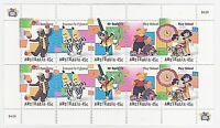 1999 AUSTRALIA POST 'CHILDREN'S TELEVISION' MINI SHEETLET OF 10 x 45c MNH STAMPS