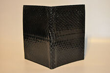 """""""Geary of Beverly Hills"""" snake skin note and pencil Bifold wallet Organizer"""