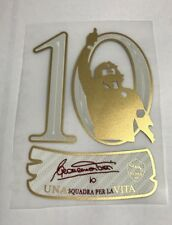 10 Totti last match sleeve patch, AS Roma 2017-18 printing badge Commemorative