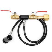 """Paintball CO2 Fill Station Tank Bottle Refill Filler Dual Valve Lever 36"""" Hose"""