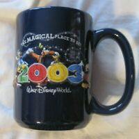 Retired 2003 Walt Disney World 3D Ceramic Coffee Mug Magical Place To Be
