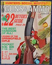Vintage Magazine GUNS & AMMO December 1968 !!! ANSCHUTZ Model 250 Air RIFLE !!!