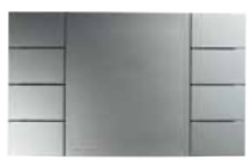 ABB DTH4018 8-Pushbuttons panel silver colour