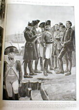 1903 newspaper with engraving Convicts Founding SYDNEY Australia at BOTANY BAY