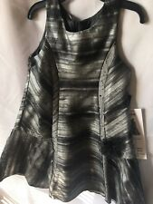 Isobella and Chloe Girls Black Silver Gray And Charcoal A-line Dress Size 5- New