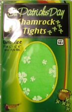 St Patricks Day Green Shamrock Tights Adult Costume Accessory NEW Standard Size
