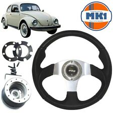 Volkswagen Beetle 1974> 340mm Leather Alloy Motorsport Steering Wheel  Boss Kit