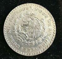 1967-Mo Mexico 1 Peso Key Date KM# 459 DIE CRACK AROUND DATE