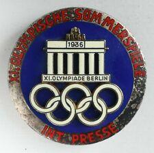 1936 Berlin XI. Olympiade Summer Olympic Games International Press (Presse) Pin