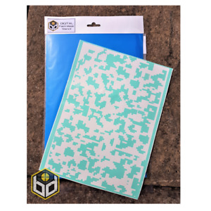 Digital Camouflage Paint Mask Stencil (3 x A4 sheets)