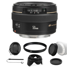 Canon EF 50mm F/1.4 USM Lens Bundle for Canon SLR Cameras