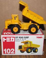 Tomy Tomica Mani F22 Caterpillar Cat ? Dump Truck 1/119 Toy Metal Construction