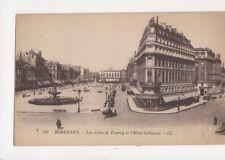 Bordeaux Les Allees de Tourny & Hotel Gobineau France [LL 118] Postcard 814a
