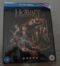The Hobbit Desolation Smaug (with slip case) (Very Good)(UK Blu Ray) Free Post