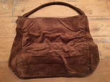 Helen Kaminski Brown Suede Leather Bag Woven Braided Shoulder Straps