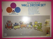 Vintage Sesame Street Train Pin-Up Wall Decor Set Decoration (Dolly Toy)