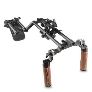 CAMVATE Shoulder Mount Rig Kit Tripod Plate Dual Handgrip Stabilizer frCamcorder