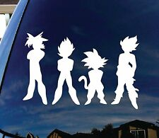 "Dragon Ball Z DBZ Car Window Vinyl Decal Sticker 6"" Goku Vegita Super Saiyen"