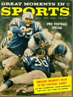 1960 Great Moments in Sport football magazine Frank Gifford New York Giants ~ VG