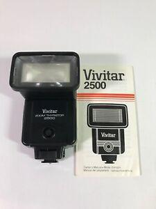 Vivitar 2500 Zoom Thyristor Shoe Mount Universal Electronic Flash -