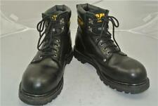 CATERPILLAR BLACK LEATHER BOOTS (UK SIZE 10) STEEL TOE CAP WALKING MACHINES
